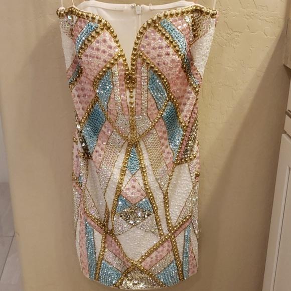 Forever Unique Dresses & Skirts - Embellished Forever Unique Mini Dress size 6 NEW